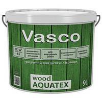 Лак VASCO WOOD AQUATEX 0.9л - Декоративный лак для дерева для внутренних работ