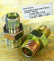 Соединитель простой метал M12x1,5/10x1