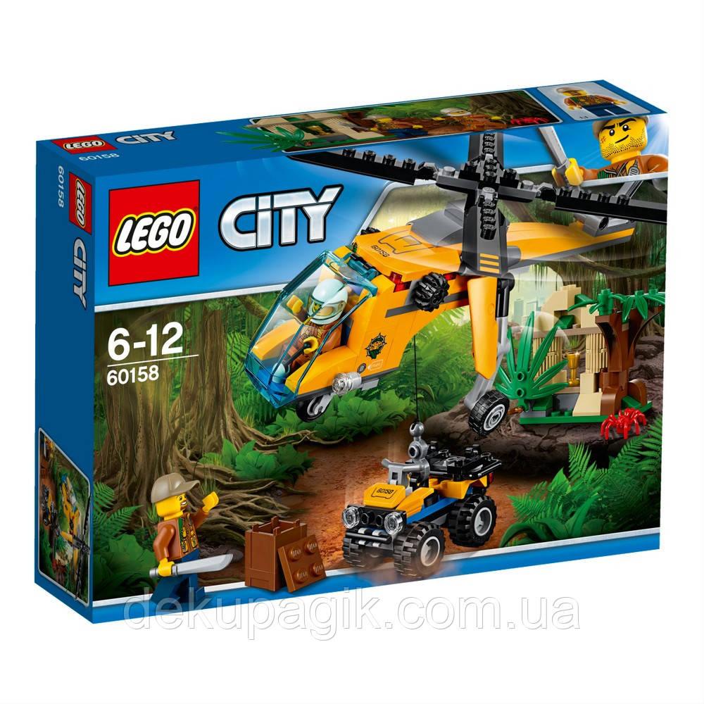 Lego City Джунгли: Грузовой вертолёт исследователей джунглей 60158