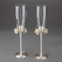 """Свадебные бокалы """"Розы"""" (высота 26,5 см)"""