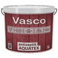 Лак VASCO ANTISEPTIK AQUATEX 0.9л - Декоративный лак для дерева для наружных работ
