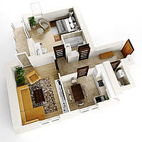 Двокімнатна квартира Тип 2А