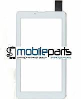 """Оригинальный Сенсор (Тачскрин) для планшета 7"""" X-digital TAB 711 3G(Тип2) (184x104,30 pin) толщина 1мм (Белый)"""