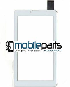 "Сенсор (Тачскрин) для планшета 7"" Iconbit SKY 3G quad NT-3704S   NT-3708s (184x104,30 pin) толщина 1мм (Белый)"