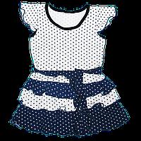 Платье в горошек с рюшами для девочек