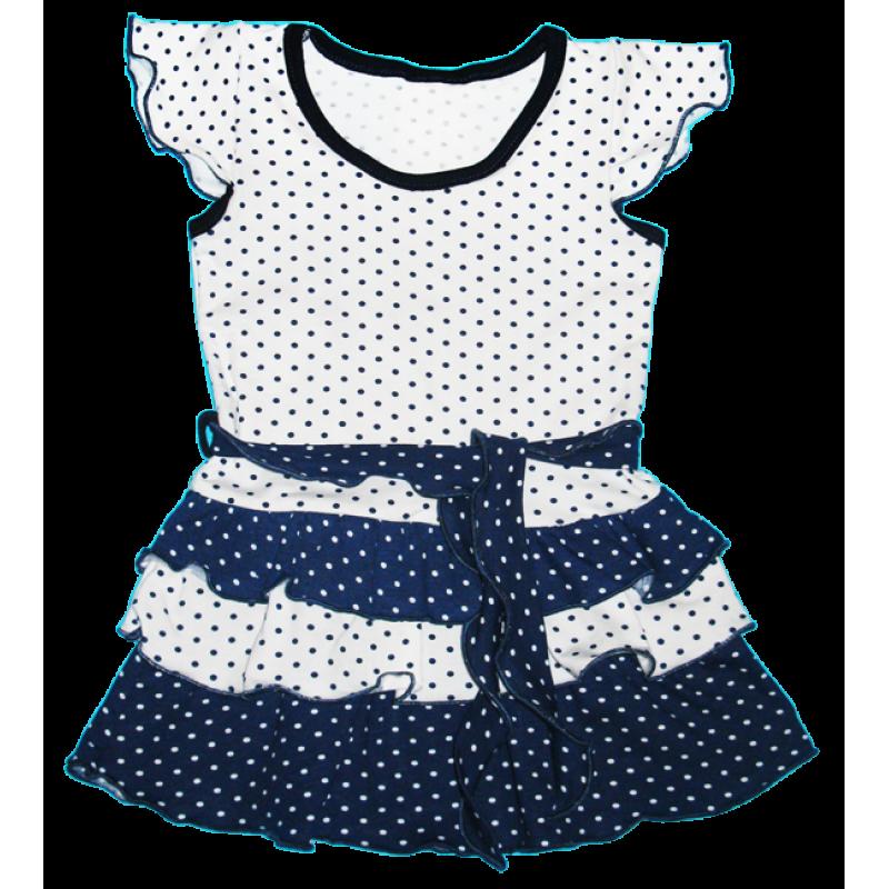 ab1df82da76 Платье в горошек с рюшами для девочек - ВИСА - украинский трикотаж от  производителя в Полтавской