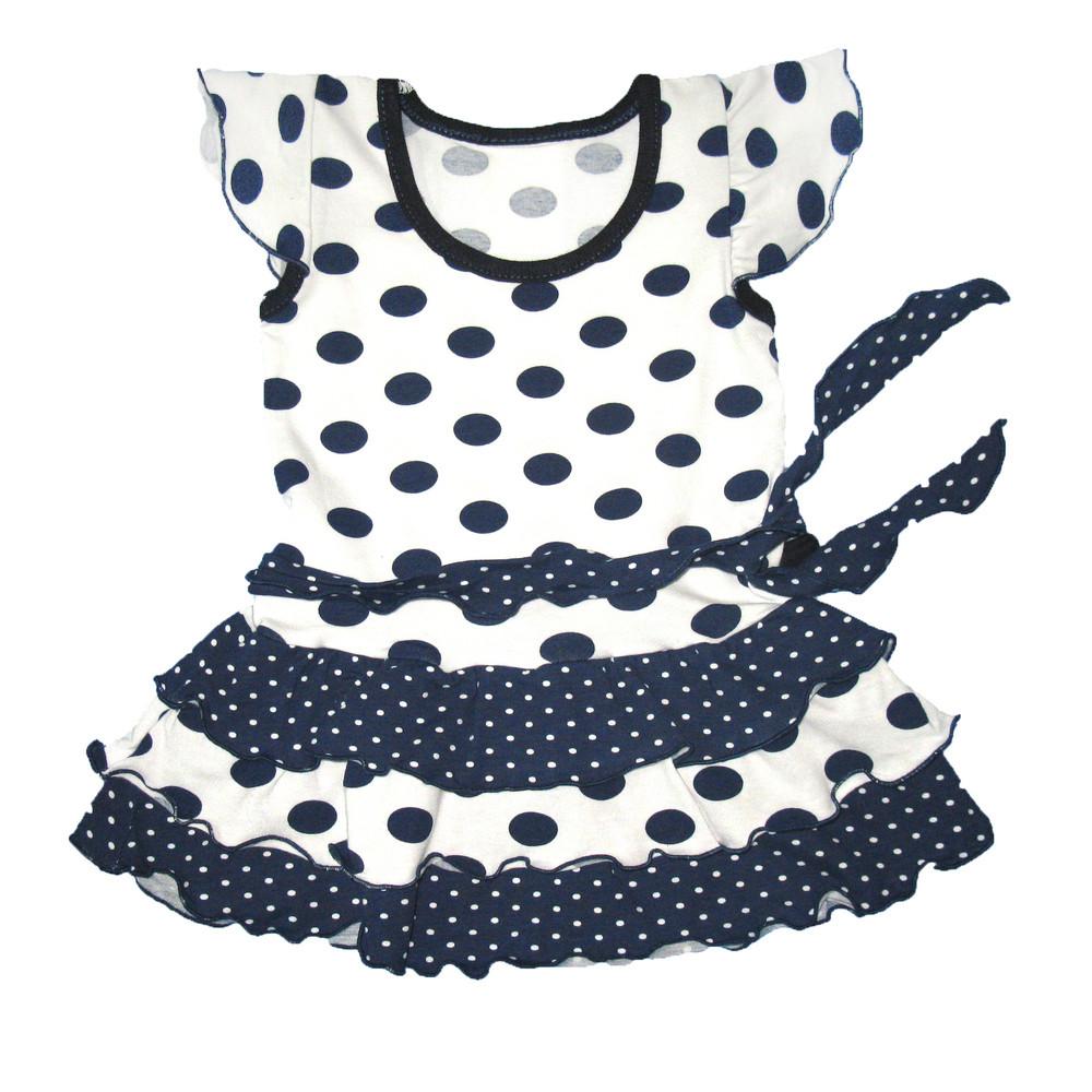 b32c0a896e4 Платье в горошек с рюшами для девочек