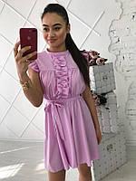Красивое летнее модное платье с пояском (3 цвета)