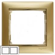 Рамка 2-местная горизонтальная, матовое золото, Legrand Valena Легранд Валена