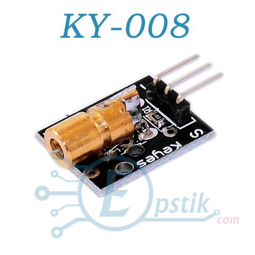 KY-008, лазерный модуль, 5В, красный