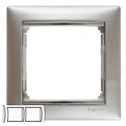 Рамка 2-местная горизонтальная, алюминий матовый, Legrand Valena Легранд Валена