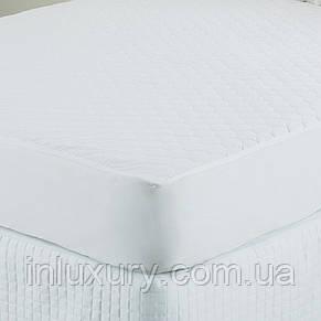Наматрасник стеганый 160*200*25 ранфорс белый, фото 2