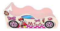 Кровать машина Минни, серия Форсаж, для детей и подростков, выбор цвета кремовый, розовый, апельсин, малиновый