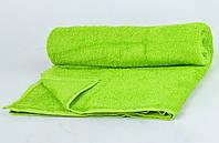 Банное махровое полотенце однотонное Туркменистан 70х140 плотность 500гр/м2 Салатовое (B1-8-R)