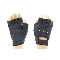 Перчатки спортивные (для фитнеса) многоцелевые WorkOut, кожа BC-0004