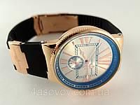 Часы женские - Ulysse Nardin - Marine на каучуковом ремешке, цвет корпуса - золото, серебристый циферблат