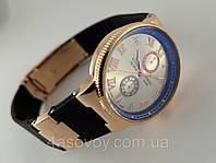 Часы женские - Ulysse Nardin - Le Locle на каучуковом ремешке, цвет корпуса - золото, серебристый циферблат