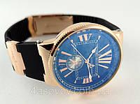 Часы женские - Ulysse Nardin - Marine на каучуковом ремешке, цвет корпуса - золото, черный циферблат