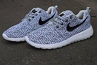 Кросівки Nike Roshe Run Flyknit сірі, фото 1