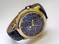 Мужские Patek Philippe - SKY MOON (LUX replicа) черный кожаный ремешок, цвет корпуса - золото, AAA, фото 1