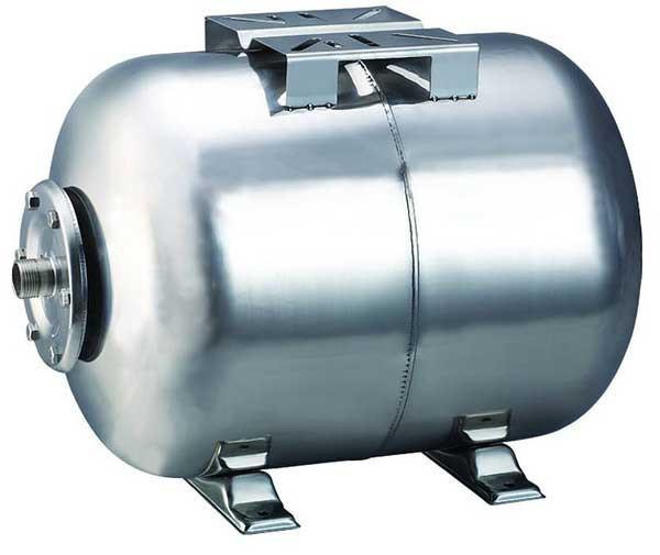 Гидроаккумулятор из Нержавеющей стали на 100 литров, Горизонтальный
