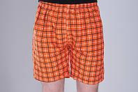 Мужские летние шорты оранжевого цвета (клетка). Хмельницкий