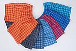 Чоловічі шорти в клітинку (плащівка), блакитного кольору, фото 2