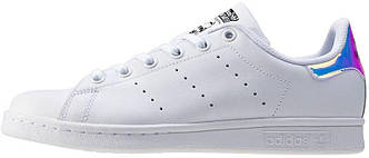Кроссовки Adidas Stan Smith J 'Iridescent' White, адидас стен смитт