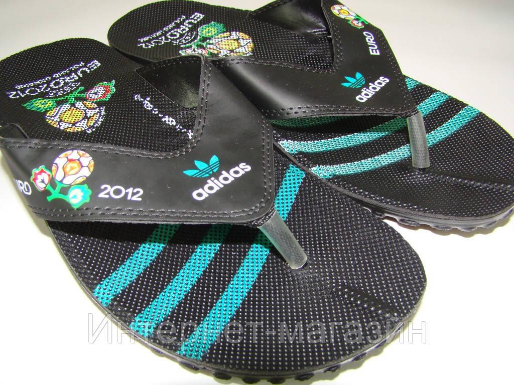 Вьетнамки мужские adidas (40-45р) код 7010 зеленый