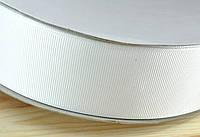 Репсовая лента 4см 91м белая ЛР40-01