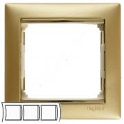 Рамка 3-местная горизонтальная, матовое золото, Legrand Valena Легранд Валена