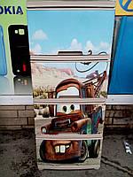 """Комод на 4 ящика с декором """"тачки Лари кейбл"""" с рисунком на крышке Алеана"""