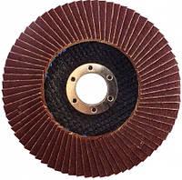 Круг лепестковый конический Werk Т29 125х22.2 мм, А36, корунд циркония