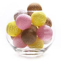 Тайские фонарики 20 шарик (5 желтых, 5 светло розовых, 5 светло коричневых , 4 серых), фото 1