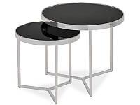 Журнальный столик Delia II стеклянный (в комплекте два столика) (SIGNAL)