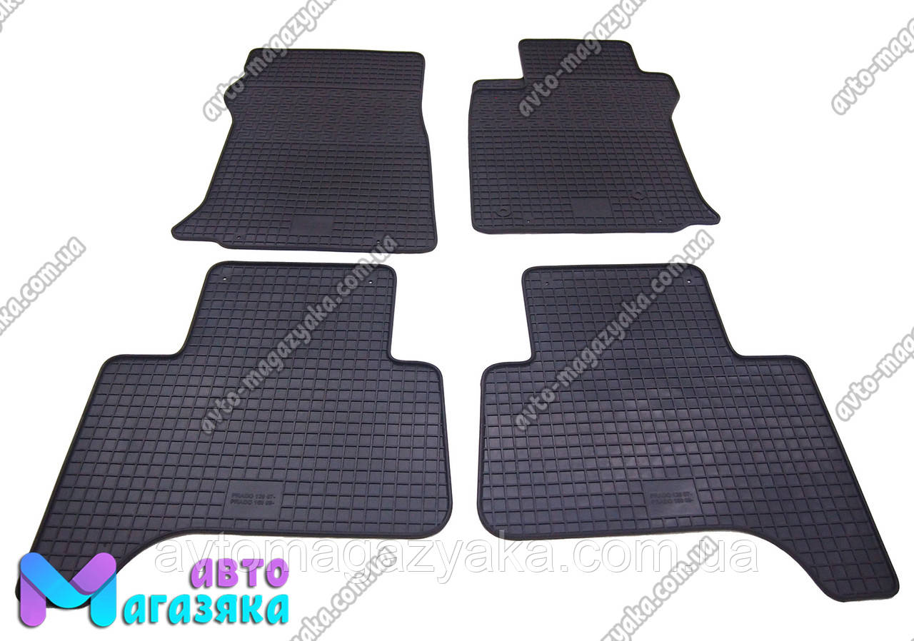 Коврики резиновые для Toyota Land Cruiser Prado 120 2002-2009  (POLYTE