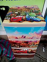 """Комод на 4 ящика с декором """"тачки молния маквин"""" с рисунком на крышке Алеана"""