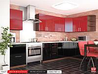 Кухня модульная, угловая MoDa  чери/черный  2800*1700 мм