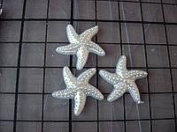 Декоративная фигурка из пластика. Морская звезда,19 мм