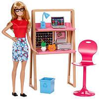 Набор игровой Барби домашний офис Barbie Doll & Home Office Set