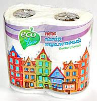"""Бумага туалетная ТМ""""Eco Line"""" 2 шар, белая (1блок-48шт)"""