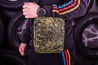 Барсетка мужская, сумка через плечо, камуфляж, 3 вида