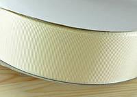 Репсовая лента 4см 91м кремовая ЛР40-08