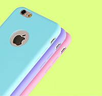 Мятный матовый силиконовый чехол для iPhone 6/6s