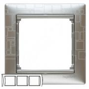 Рамка 3-местная горизонтальная, алюминий модерн, Legrand Valena Легранд Валена