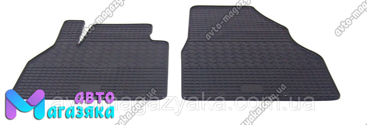 Коврики резиновые для Renault Kangoo 2008- Передние (POLYTEP LUX)