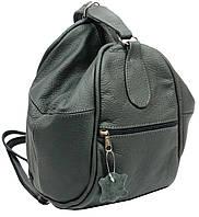 Женский рюкзак сумка кожаный 4U Cavaldi 8-12л. серый CVLD 59332-5 (кожаный рюкзак, кожаная сумка)