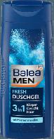 Мужской гель для душа Бодрящая свежесть 3 в1 Balea Men 3 in 1 Fresh 300 мл.