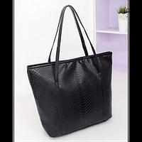 Вместительная объемная женская сумка под рептилию. Хорошее качество. Доступная цена. Дешево. Код: КГ1190