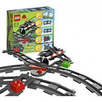 Конструктор лего дупло LEGO Duplo Дополнительные элементы к железной дороге 10506, фото 1